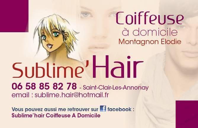 Sublime ' Hair coiffeuse a domicile